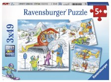Puzzle-Let's Go Skiing 3x49