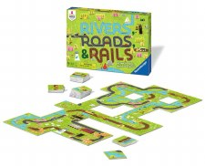 Rivers Road and Rails Board Game - Ravensburger