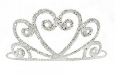 Silver Glitter Tiara - Creative Education