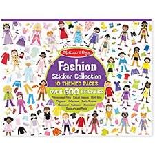 Sticker Book Fashion Theme