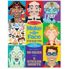 Sticker Pad-Crazy Characters