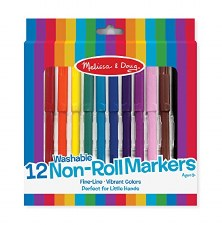 Washable Non-Roll Markers