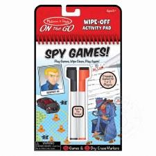 Write-On Reusable Spy Games