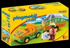 Zoo Vehicle w/Rhinoceros
