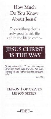 CC-JESUS CHRIST IS THE WAY #1