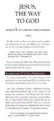 CC-JESUS CHRIST IS THE WAY #5