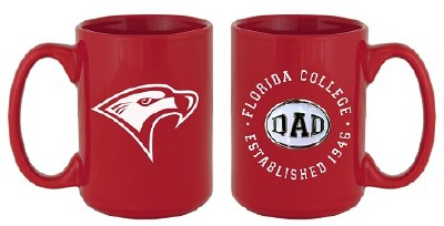 Red Florida College Dad Mug
