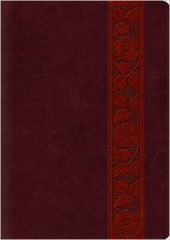 ESV Study Large Print Bible- Mahogany