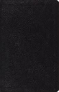 ESV Thinline Reference Bible - Black Genuine Leather