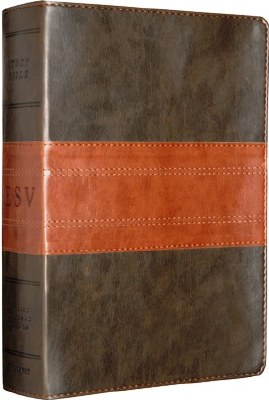 ESV Study Bible - Brown/Chestnut TruTone