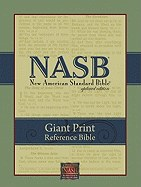 NASB Giant Print Reference Bible - Black Leatherflex