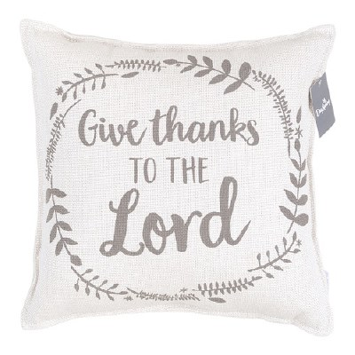 Pillow, Give Thanks Linen
