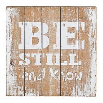 Plaque - Be Still and Know Dst