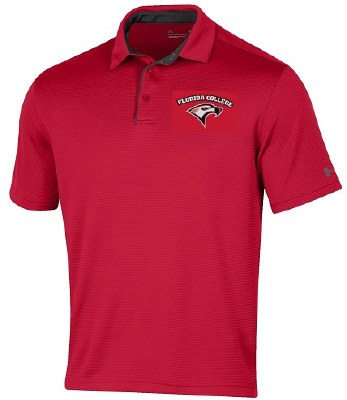 Under Armour Red Tech Polo
