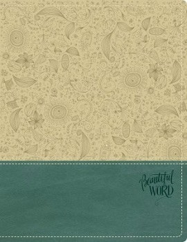 NKJV Beautiful Word Bible - Taupe/Blue