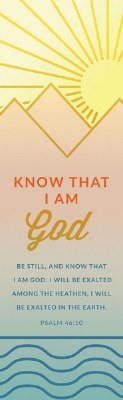 Bookmark-Know That I am God