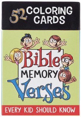 Coloring Cards - Bible Memory Verses Every Kid Should Know