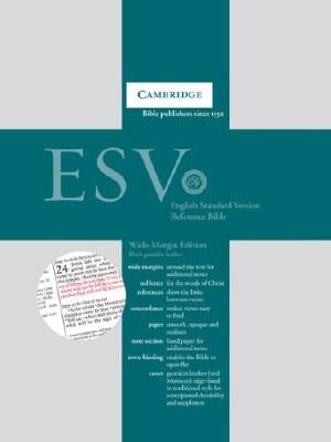 ESV Wide-Margin Reference Bible - Black Goatskin Leather