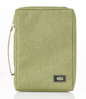 Bible Cover - Canvas, Light Green, Large