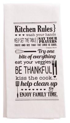 Tea Towel - Kitchen Rules