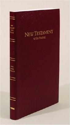 KJV Keystone Large Print New Testament w/Psalms - Red Imitation Leather