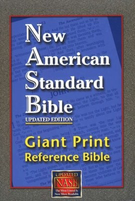 NASB Giant Print Updated Reference Bible - Burgundy Bonded Leather