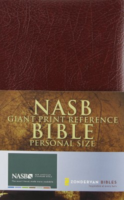 NASB Giant Print Reference Bible - Burgundy Leather Look