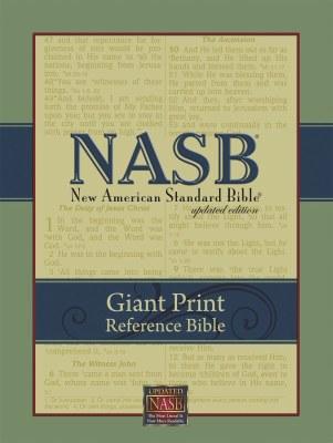 NASB Giant Print Reference Bible - Burgundy Genuine Leather