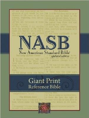 NASB Giant Print Updated Reference Bible- Burgundy Leatherflex