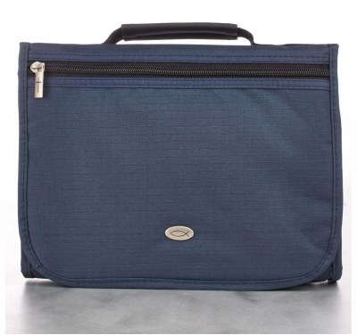 Bible Cover - Canvas - Organizer, Navy, Medium