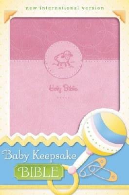 NIV Baby Keepsake Bible - Pink Imitation Leather