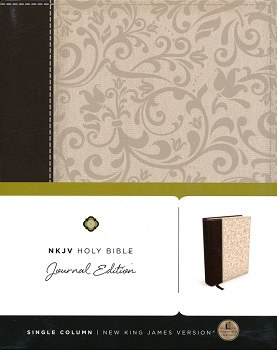 NKJV Journaling Bible - Brown/Cream Hardcover