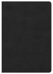 NKJV Large Print Compact Reference Bible - Black Leathertouch