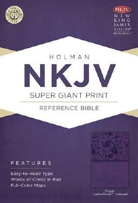 NKJV Super Giant Print Reference Bible - Purple Imitation Leather