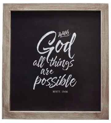 Plaque - Matt 19:26