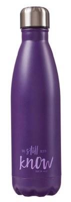 WATER BOTTLE, Be Still purple