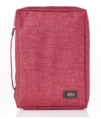 Bible Cover - Canvas, Burgundy, Medium