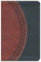 NKJV Personal Bible - Black/Brown Imitation Leather