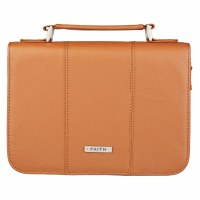 BIBLE COVER-Tan Full Grain L