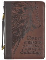 Bible Cover - Lion Strength M