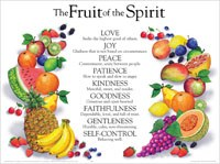 Fruits of the Spirit- Laminated