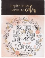 Coloring Cards Faith Hope Love