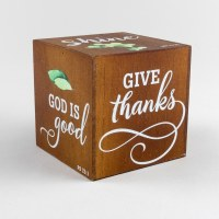 Give Thanks Cube Plaque