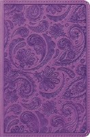 ESV Compact Bible - Purple Paisley Trutone