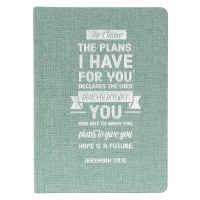 For I Know the Plans Hardcover Linen Journal