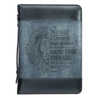 BIBLE COVER- Be Strong Lion