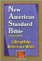 NASB Ultrathin Reference Bible - Black Genuine Leather