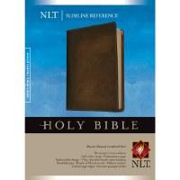 NLT Slilmline Reference Bible- Brown