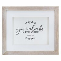 Give Thanks Wood Framed Wall A