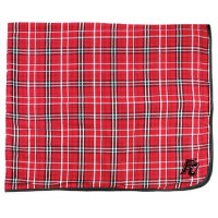 Blanket, Flannel, Red & White